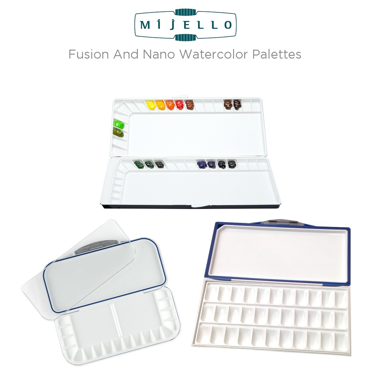 Mijello Fusion and Nano Watercolor Palettes