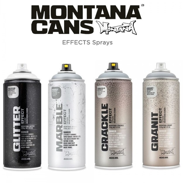 Montana Effect Sprays - MARBLE, CRACKLE, GRANIT, & GLITTER