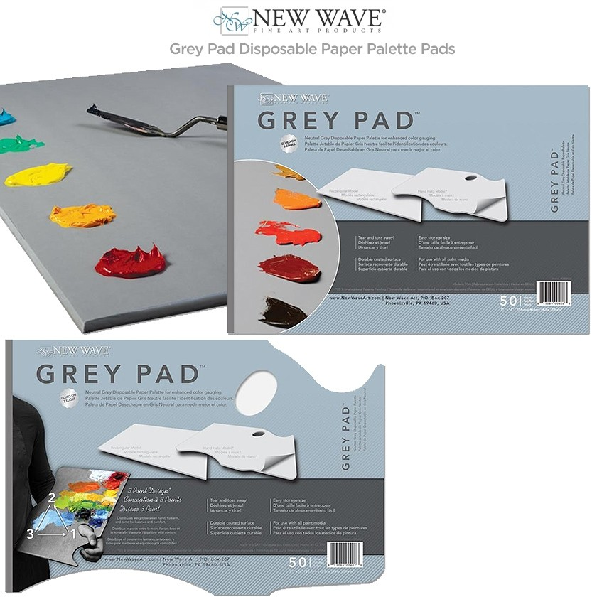 New Wave Grey Pad Disposable Paper Palette Pads