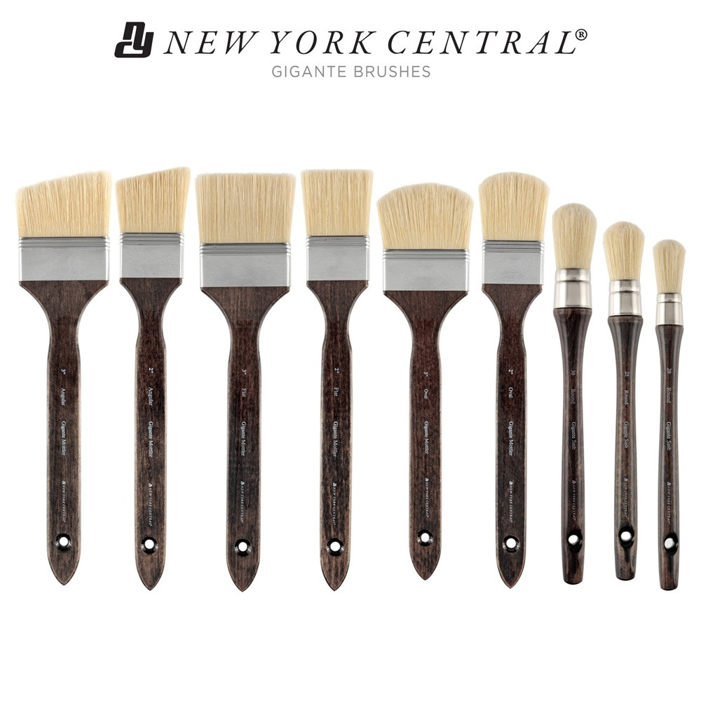 New York Central Gigante Bristle Brushes