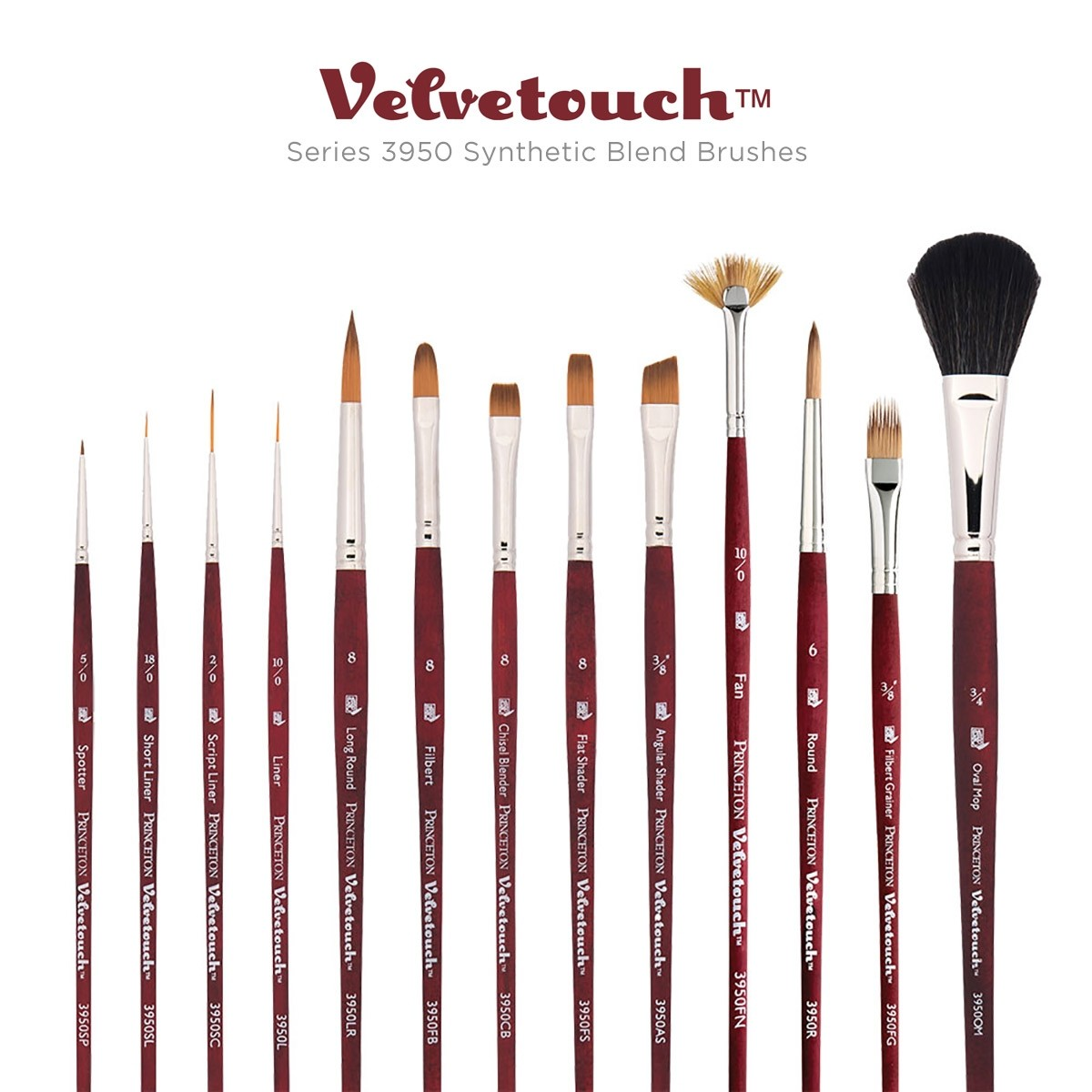 FREE PALETTE Artists Red Synthetic Sable Brushes Round Tip Sizes 5//0 0 1 3 /& 5
