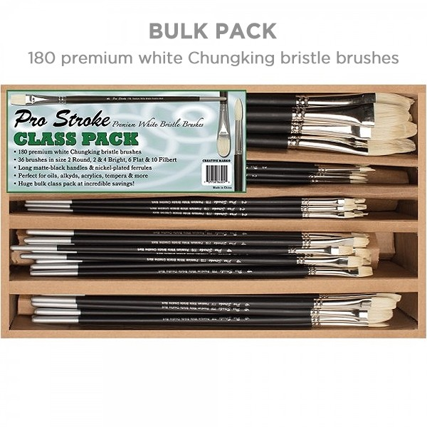 Creative Mark Pro Stroke Premium White Bristle Brush Class Packs