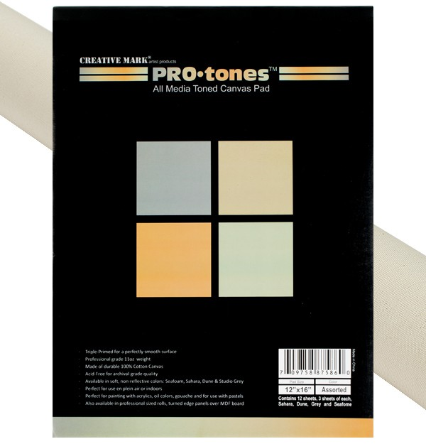 Protones Professional Acrylic Primed Cotton Canvas Sampler Pads