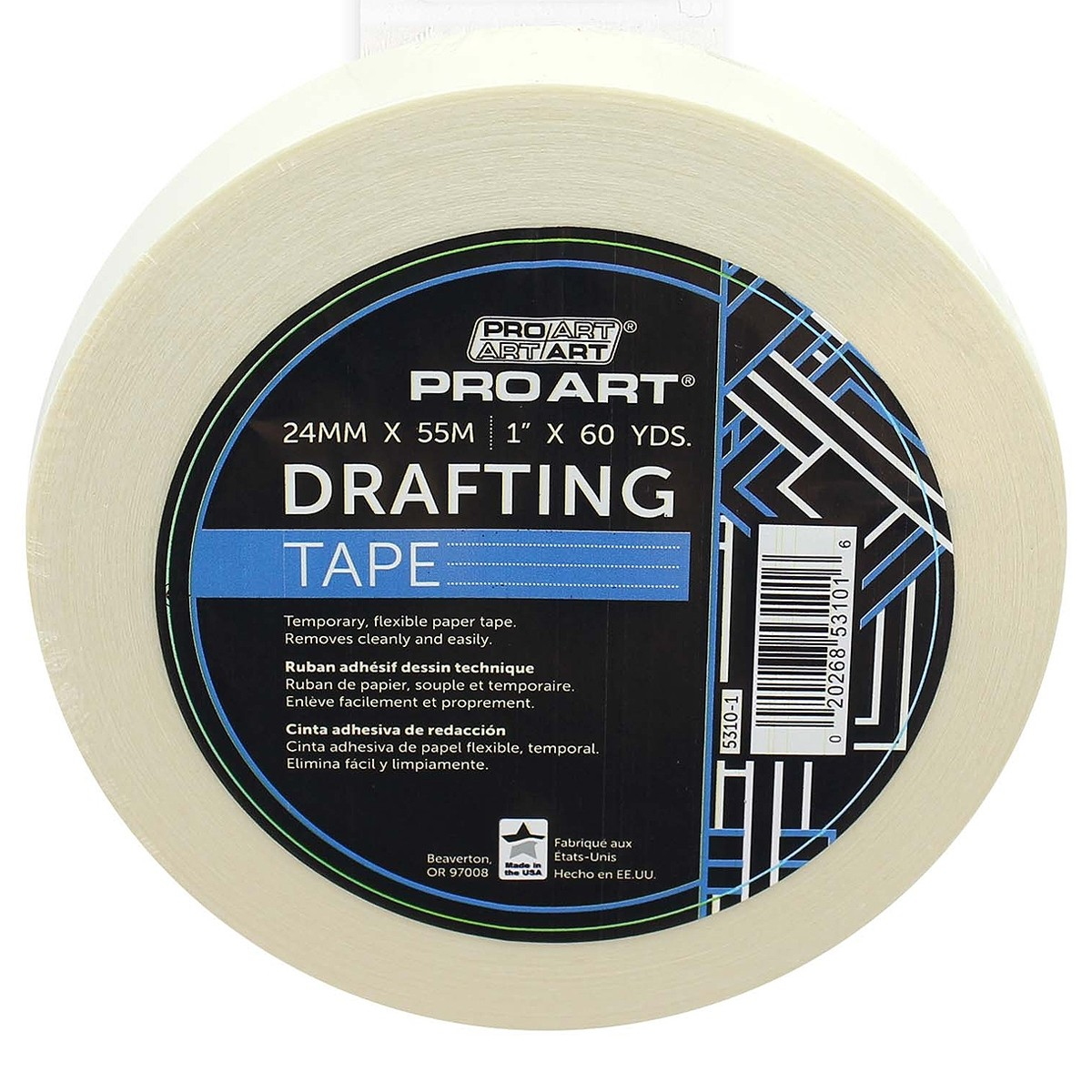Pro Art Tape Drafting 1 in. x 60 yd