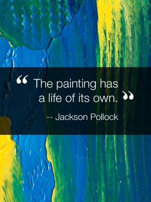 Inspirational Quote Art eGift Card - Jackson Pollock eGift Card