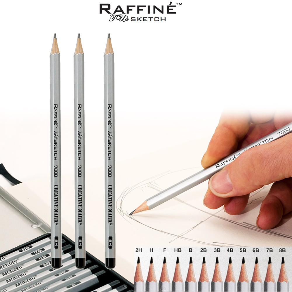 Raffiné Artist Pure Graphite Pencils