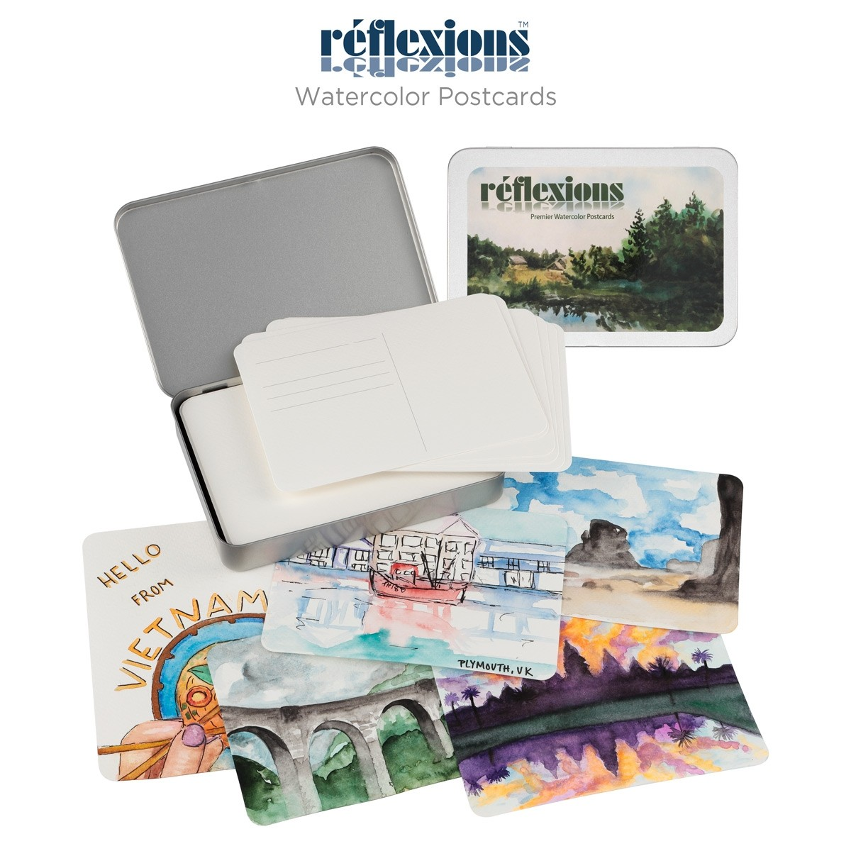 Reflexions Watercolor Postcards