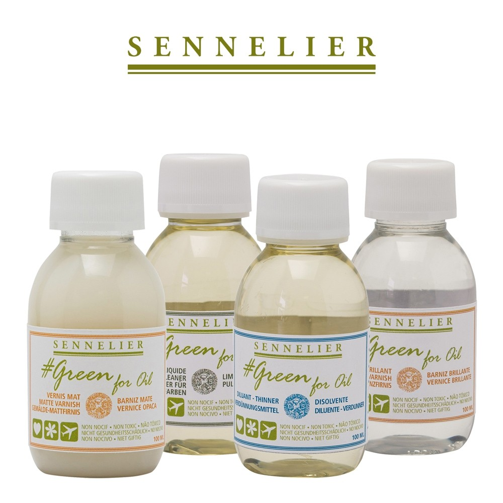 Sennelier #Green For Oil Mediums - Non-Toxic Additives For Oil Paints