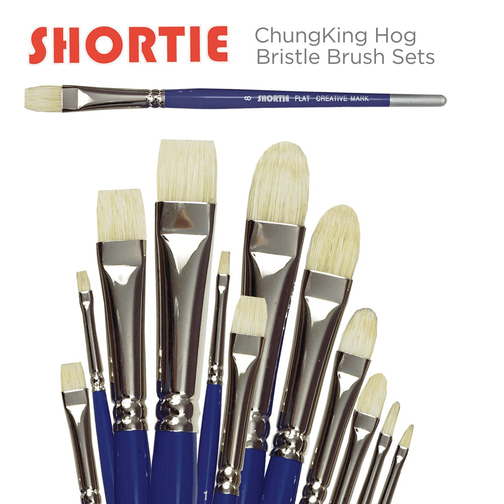 Shortie ChungKing Hog Bristle Brush Sets