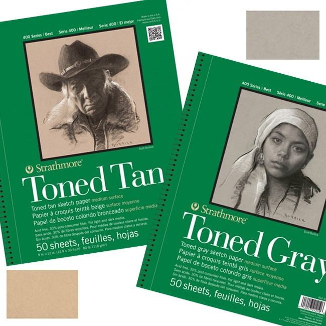 Strathmore 400 Series Toned Gray / Tan Sketch Pads