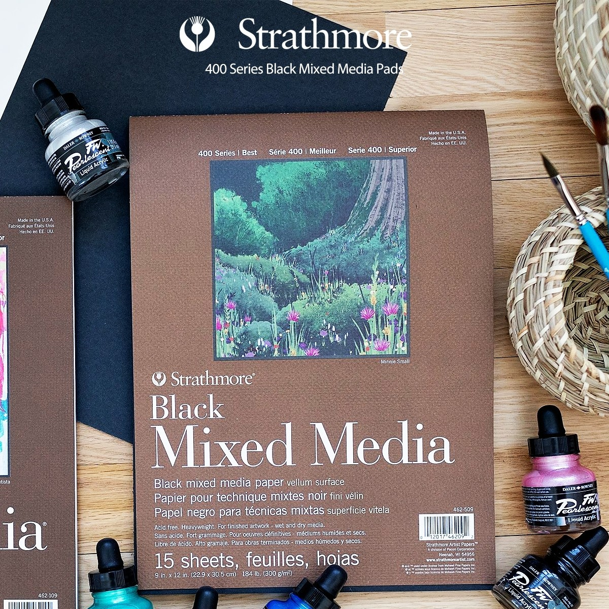 Strathmore 400 Series Black Mixed Media Paper Pads