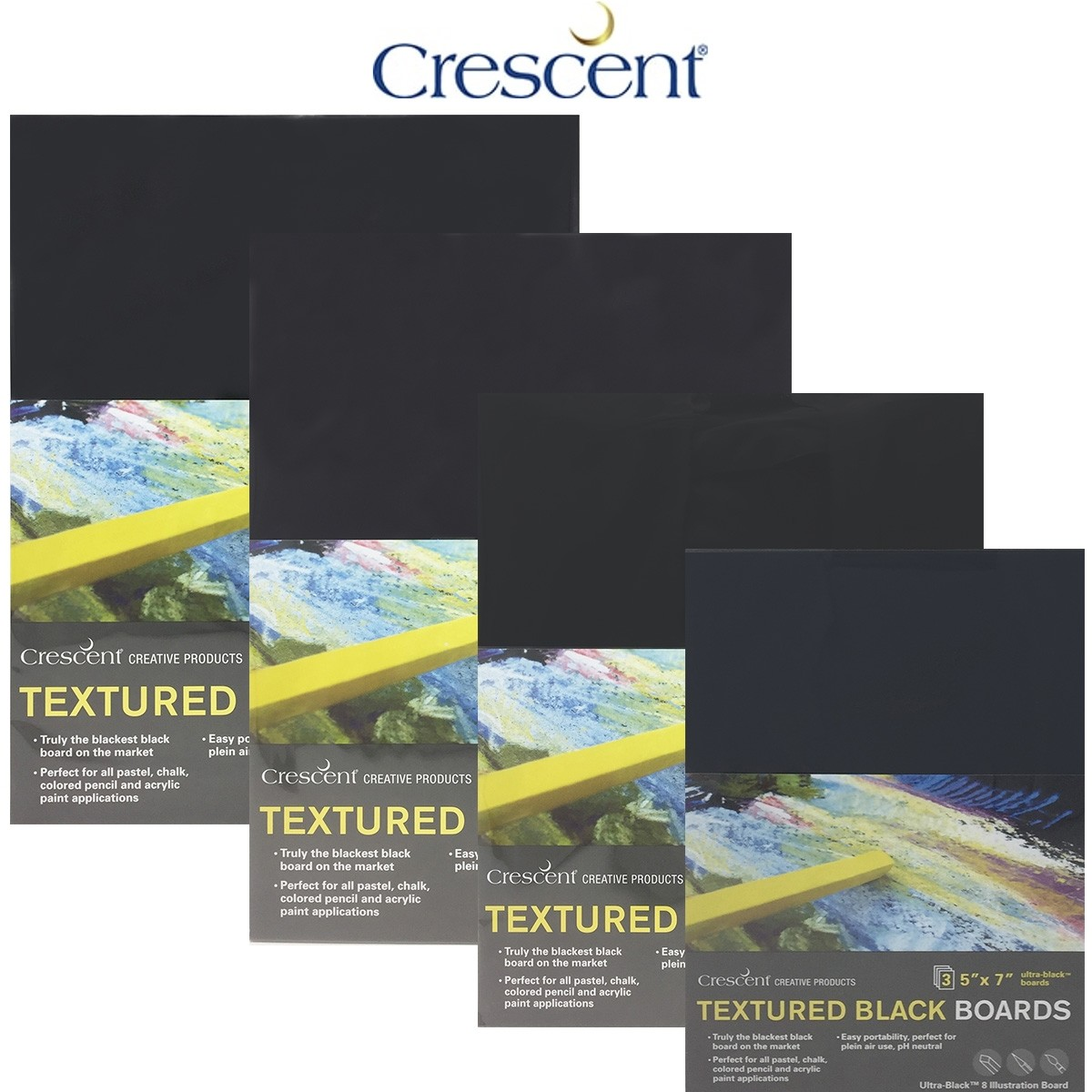 Crescent Ultra-Black Art Boards Blackest black board on the market