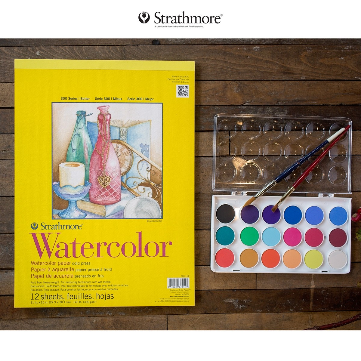 Strathmore 300 Series 140lb. Watercolor Paper Pads