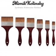 Mimik Kolinsky Synthetic Watercolor Mottler Brushes