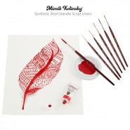 Mimik Kolinsky Synthetic Short Handle Script Liners