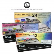 DANIEL SMITH Watercolor Half Pan Metal Box Sets