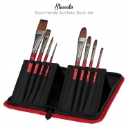 Staccato Short-Handle Synthetic Brush Set