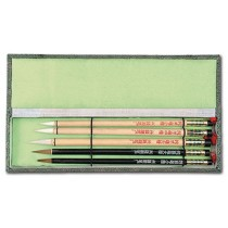 Royal Crest Bamboo Brush Set of 5 Brushes in a Deluxe Silk Box
