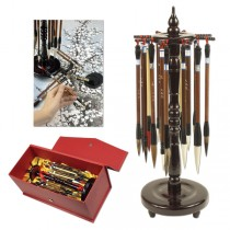 Golden Panda Chinese Calligraphy Master Brush Set