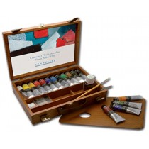 Sennelier Extra Fine Artists' Oil Color Sets Wood Box Set of 12