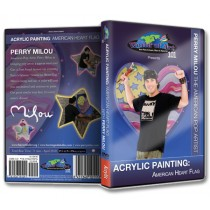 Acrylic Painting: American Heart Flag DVD with Perry Milou