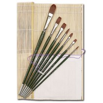 Silver Brush Ruby Satin Acrylic Brush Master Set