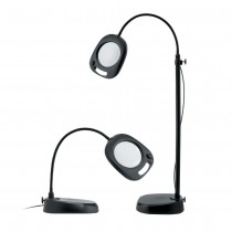 Naturalight 5 Inch LED 2 In 1 Floor And Table Magnifier Lamp