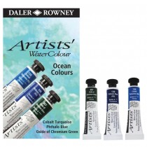 Daler-Rowney Artists' Water Colour Ocean Colors Set of 3