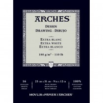 Arches 100% Cotton Dessin Drawing Paper - Extra White