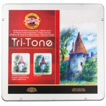 Koh-I-Noor Tri-Tone Colored Pencil Sets