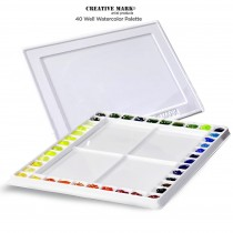 Creative Mark 40 Well Watercolor Palette With Cover