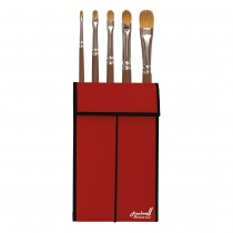Raphael Red Sable Oil Color Travel Brush Sets