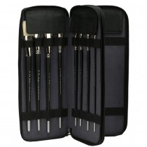 Creative Mark Genuine Leather Brush Case - Long Handle in Black