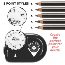 Acurit Dial-A-Point Pencil Sharpener Info