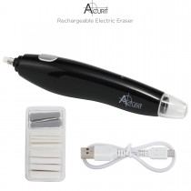 Acurit Electric Eraser pictured with usb cord and refill pack