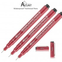 Acurit Professional Waterproof Technical Pens Filled With Rich, Black Ink!