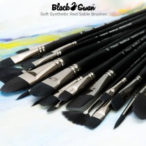 Black Swan Synthetic Red Sable Brushes - Soft animal-friendly synthetic