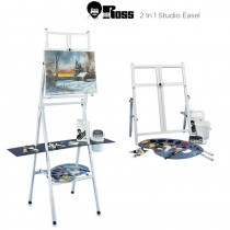 Bob Ross 2 In 1 Studio Easel White