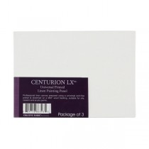 Centurion All-Media Primed Linen Panels 3-Pack 4x6""