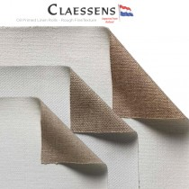 Claessens Oil Primed Linen Rolls - Rough Texture