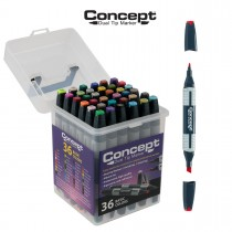 Concept Dual Tip Artist Markers And Sets