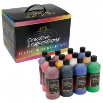 Creative Inspirations Acrylic Color Studio & School Value Pack 12 Bottles