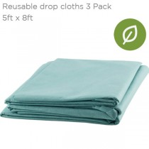 Reuseable Painting Drop Cloth 3-Pack 5' x 8' Creative mark