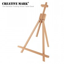 The Rambler Folding Wood Art & Display Table Easel by Creative Mark