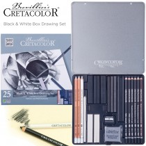 Cretacolor Black & White Box Drawing Set of 25