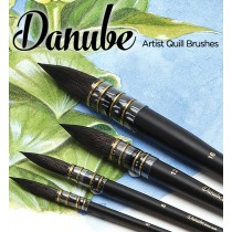 Danube Professional Watercolor Quill Brushes