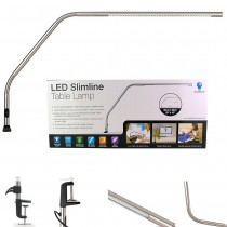 Daylight Slimline LED Clamp-On Table Lamp - Chrome U35107