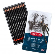 Graphic Drawing Pencils Design Set of 12