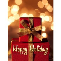 Christmas Art eGift Card - Stacked Gifts - electronic gift card eGift Card
