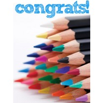 Congratulations Art eGift Card - Colored Pencils eGift Card